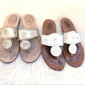 Two Pairs Of Jack Rogers Demi Wedge
